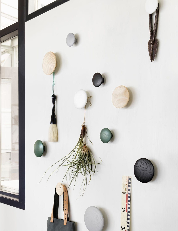 modern wall hook designs  modern wall hooks modern wall and  - perchero mural  moderno  de madera  the dots by tveit  tornøe  muuto