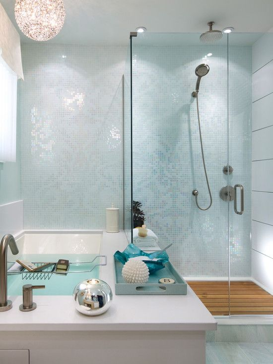 Bathtub Edge Extends To Make Ledge In Shower Love This