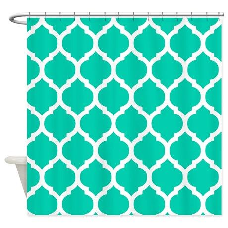 Teal Blue Moroccan Trellis Shower Curtain By Doodle S Design