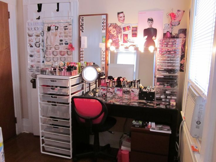 makeup vanity with lots of storage. makeup storage vanity organization  Holy crap that s a lot of