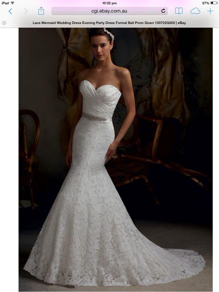 Heart shaped strapless ebay wedding dresses in pinterest