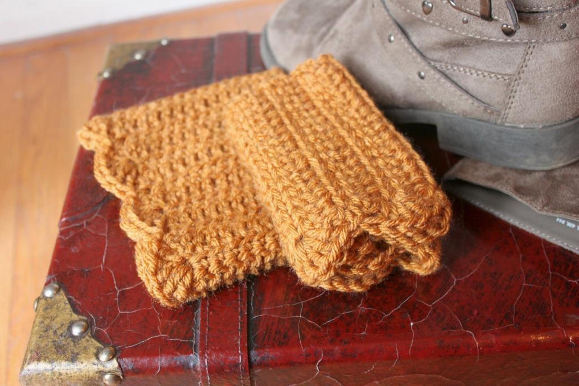 Scalloped Boot Cuffs | Craftsy | Crochet Patterns | Pinterest ...