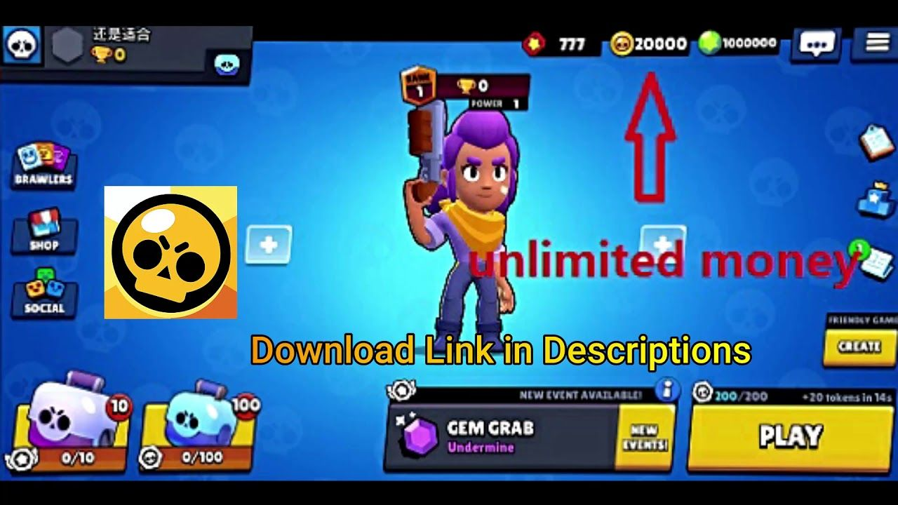 Brawl Stars Mod Apk 25 130 Unlimited Money Free Gems Brawl Clash Royale