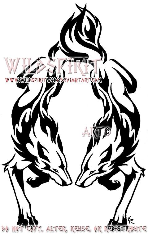 Dual Flame Wolf Tattoo By Wildspiritwolf On Deviantart Wolf Tattoos Tribal Wolf Tattoo Tribal Wolf