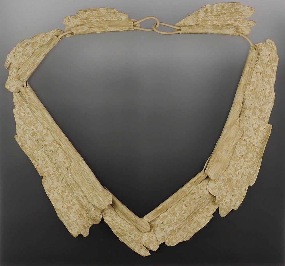 Adamson-Debbie Large Driftwood Necklace       $725 P.V.C. rubber