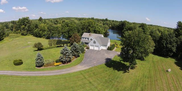 Enjoy peaceful serenity & magnificent water views in a custom built colonial nestled in a beautiful quiet cove on Saco River. Home offers many amenities & luxury 4 season rm, master suite w/whirlpool tub, 6 person hot tub, central air, central vac & more!
