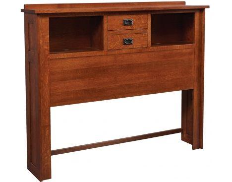 Mission Queen 2 Drawer Bookcase Headboard Daniel S Amish