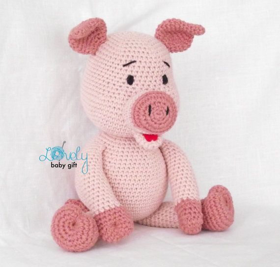 Crochet Pig PATTERN, Amigurumi piglet pattern pdf tutorial - GEORGE the  piglet | Eläinhahmot | 544x570