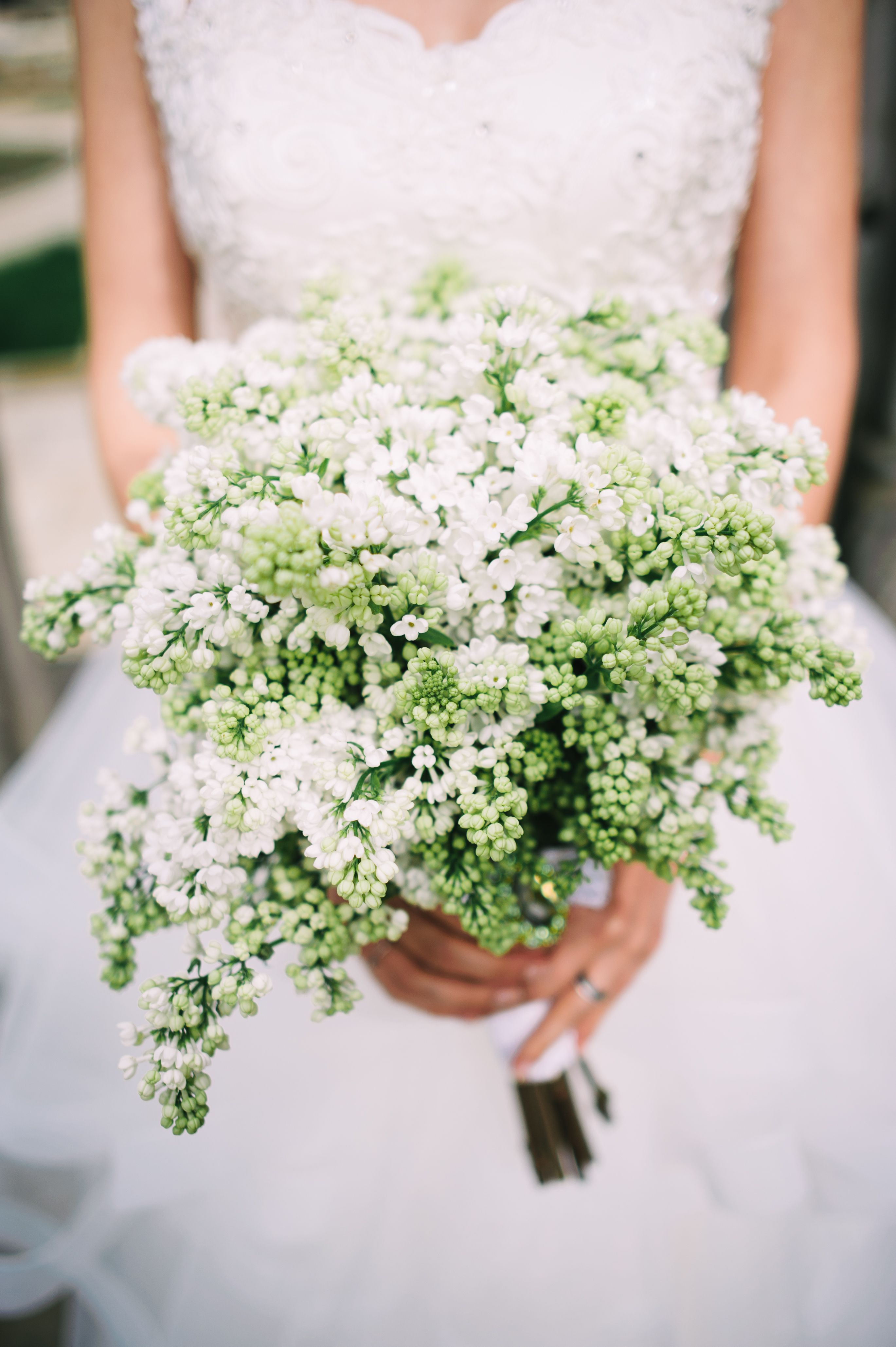 White Lilac Wedding Bouquet