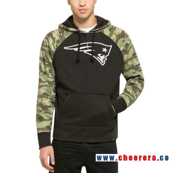 sports shoes e6f8f 74185 Men's New England Patriots '47 Black Alpha Camo Sleeve ...