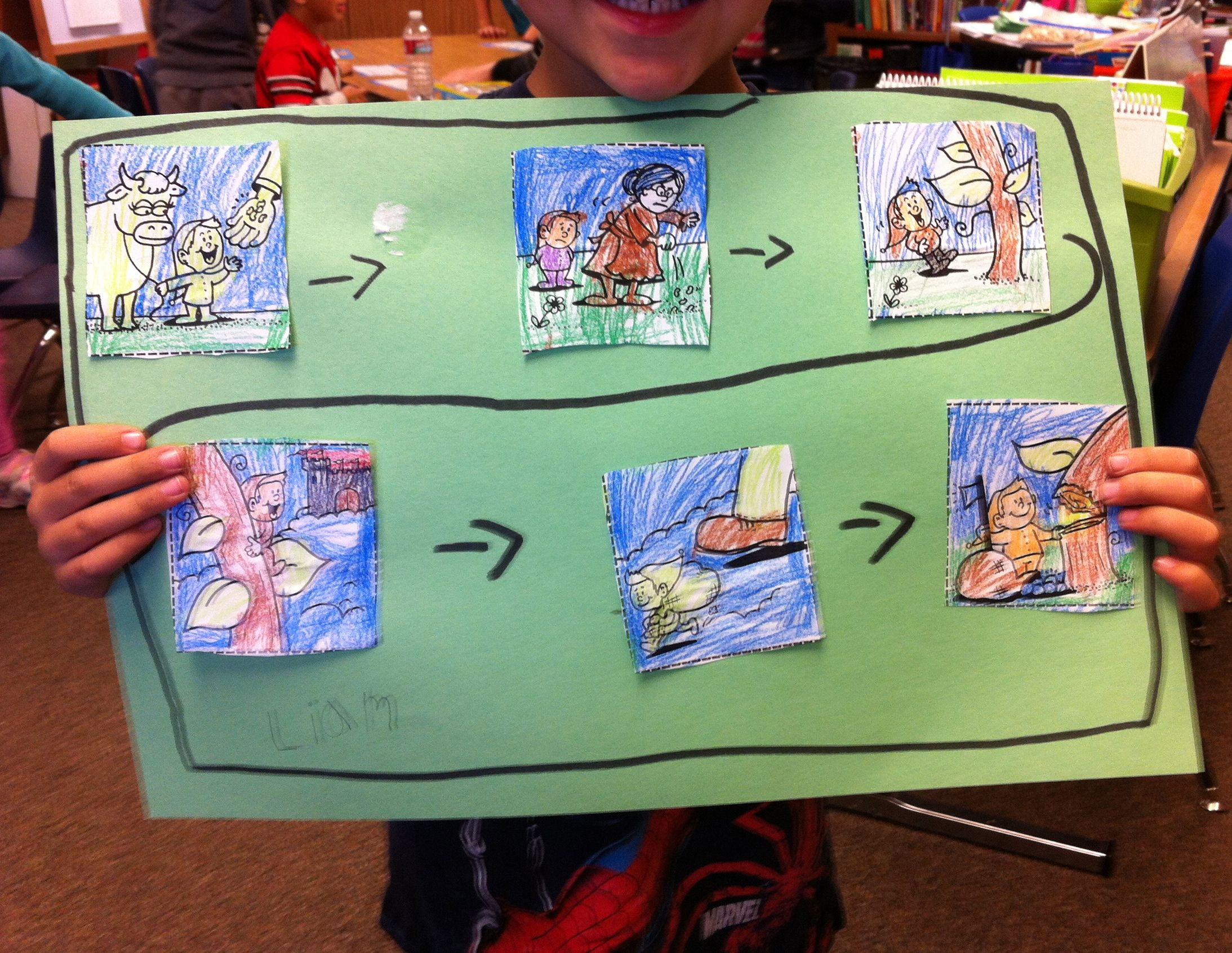 In March We Read Several Versions Of Jack And The Beanstalk As An Assessment Each Student Cut