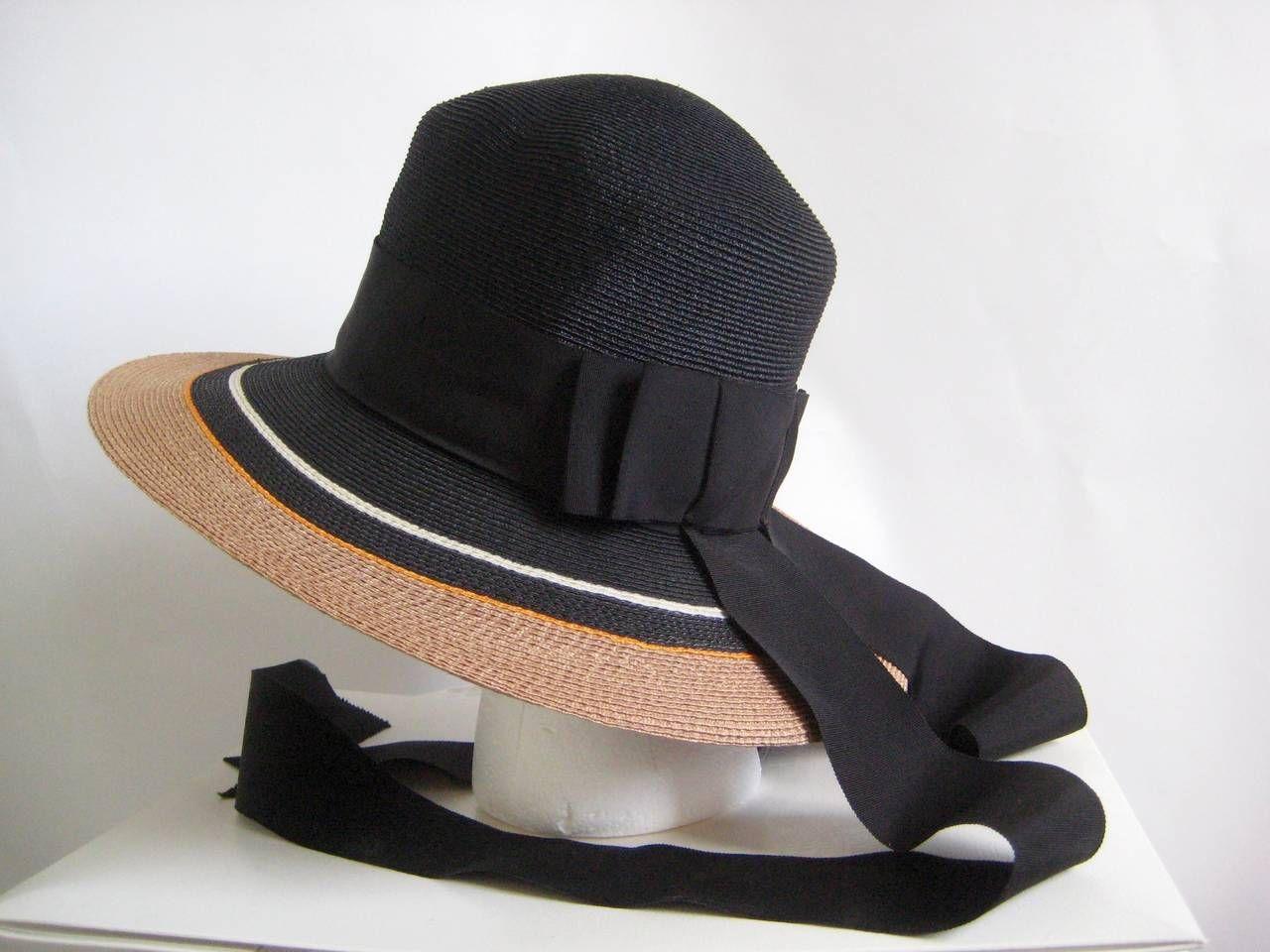 1960s Yves Saint Laurent Straw Hat With Ribbon Streamers 1stdibs Com Hat Designs Hats Yves Saint Laurent