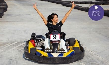 puerto banus kart One or Two Indoor Go Kart Races with Helmet Rental at SyKart