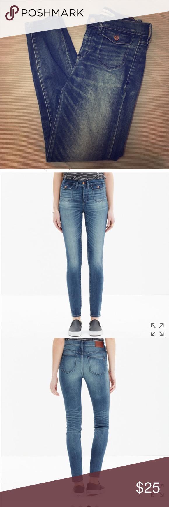MADEWELL high riser skinny skinny crop jeans high riser skinny skinny crop jeans: patch-pocket edition Madewell Jeans Skinny