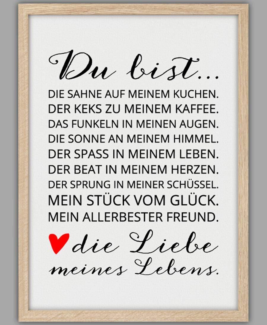 Smart Art ☆ Kunstdruck Liebe meines Lebens | Zitate und Sprüche ...