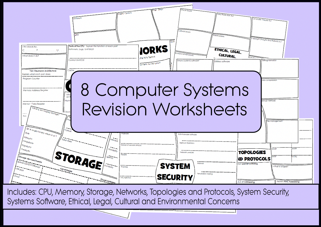 Computer Science Revision Worksheets Malwareinfographic