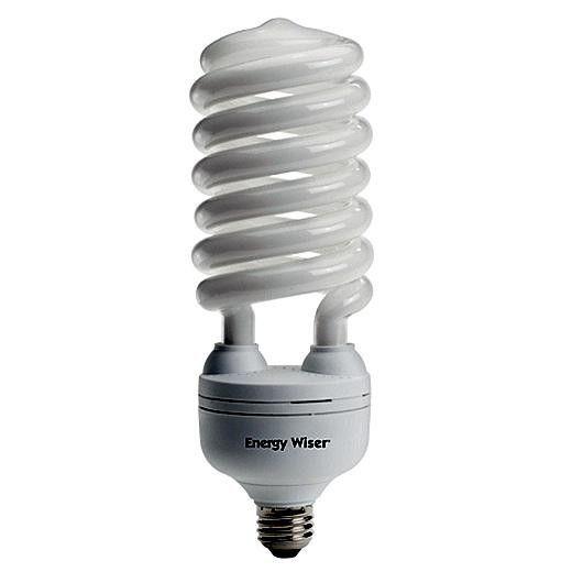 55 Watt High Wattage Compact Fluorescent T5 Coil Medium Base Warm White/Sold As 5