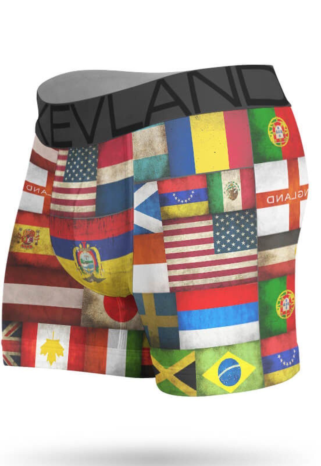 b990e9fabc3ca0 Cueca Boxer Kevland Bandeiras Vermelho em 2019 | Products | Cueca ...