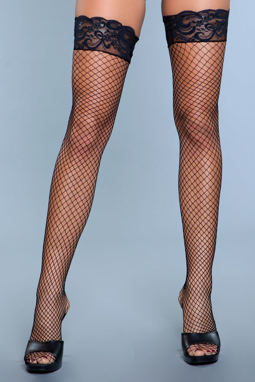 BeWicked 1919 Lace Over It Thigh Highs White in Hosiery