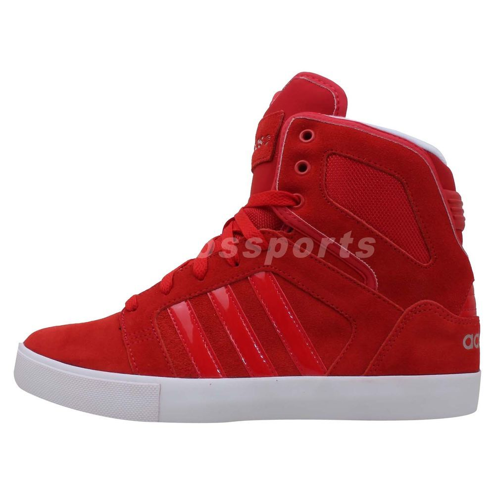 Adidas Bbneo Hitop Neo Red White 2014 Mens Fashion Casual Shoes Sneakers #adidas #AthleticSneakers