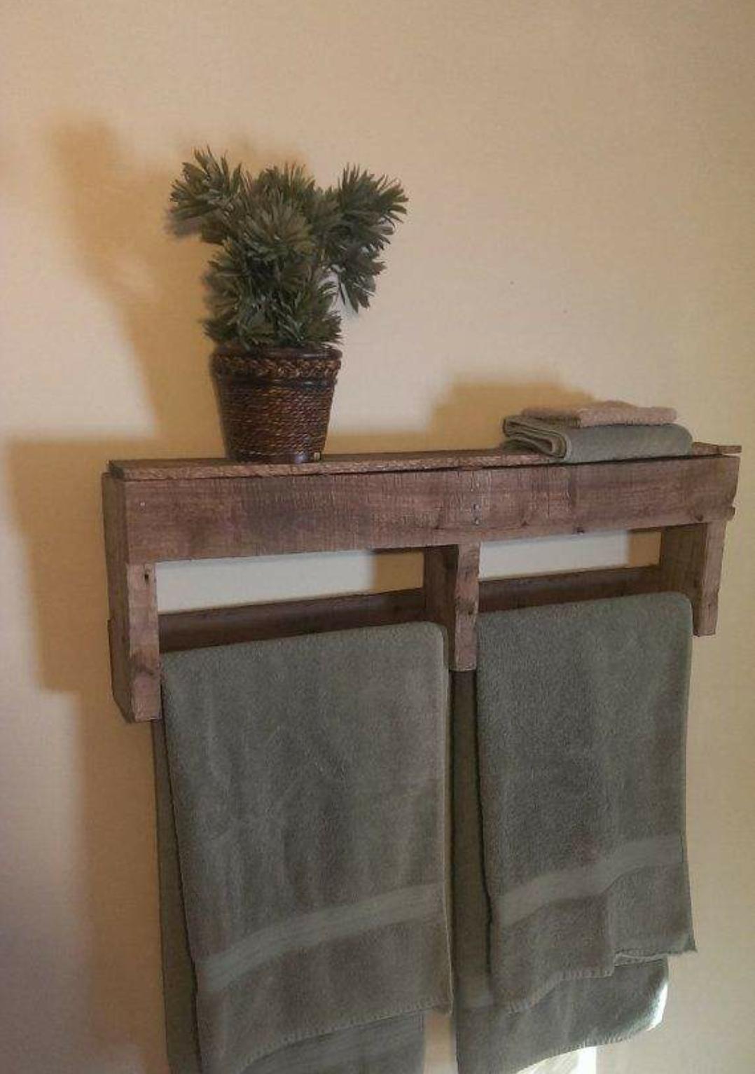 sympa ce porte serviette Idées salles de bain Pinterest
