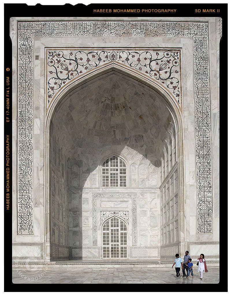 Facade of Taj Mahal kapılar doors