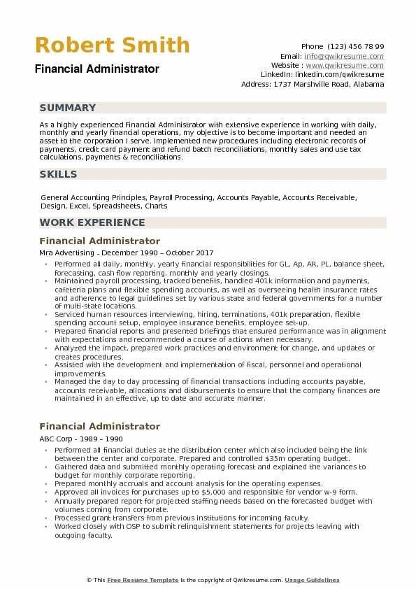 cool administration resume template idea