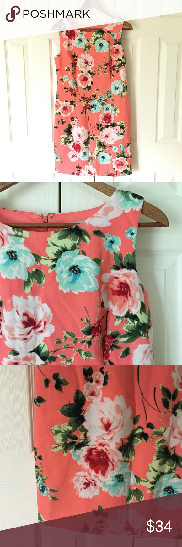 Amanda Lane Nude amanda lane // hot pink floral sheath dress a beautiful