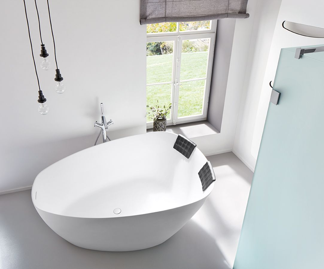 Baignoire Beton De Synthese riho toledo - freestanding bathtub in solid surface | solid
