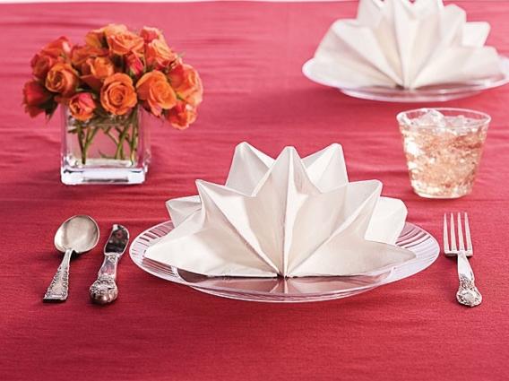Double fan/Star Napkin Fold   Reception Inspiration   Pinterest ...