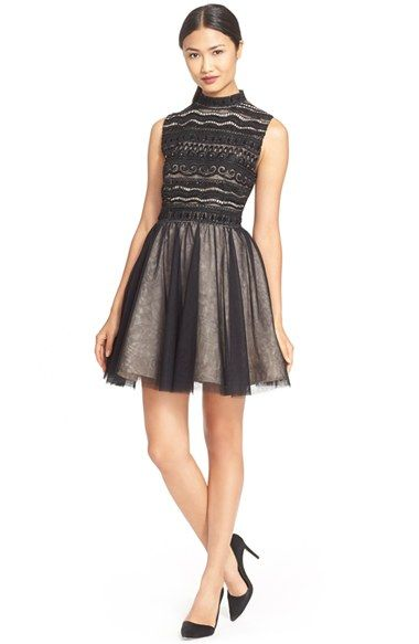 5d5e8540aef Alice + Olivia  Taya  Embellished Fit   Flare Dress available at  Nordstrom