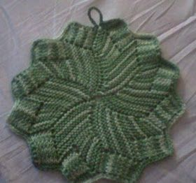 Share Knit and Crochet: Knit coaster pattern