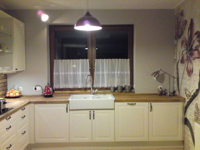 Biała kuchnia Lidingo (Ikea) z drewnianym blatem  wybór   -> Kuchnia Ikea Adel