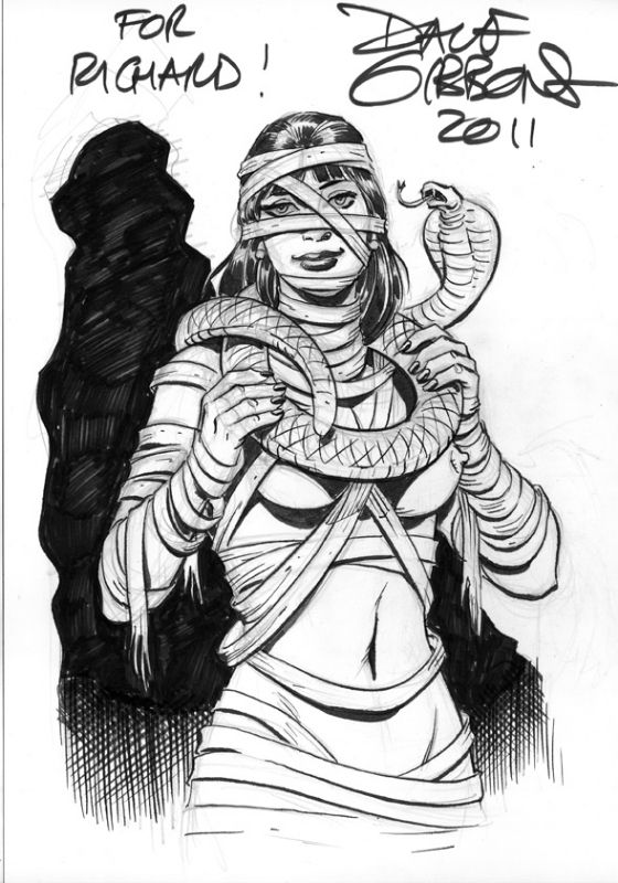 Hot Mummy By Dave Gibbons In Richard Booms Theme Comic Art Gallery Room