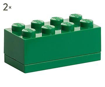 Set di 2 contenitori multiuso verde - 5x9x4 cm