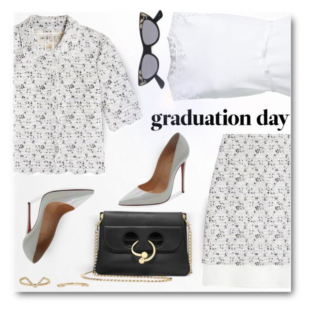 """Congrats, Grad: Graduation Day Style"" by emavera ❤ liked on Polyvore featuring WALL, Giambattista Valli, Christian Louboutin, J.W. Anderson, WWAKE and Gucci"