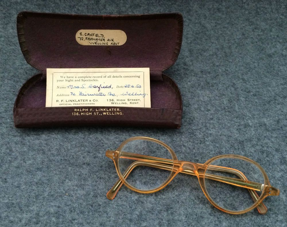 Vintage Retro 1950's Small Children's Glasses Spectacles with Original Case