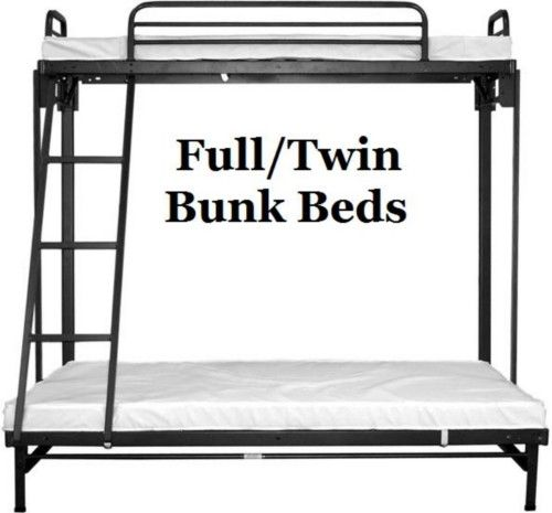 Fold Up Bunk Bed Twin Size Top Full Bottom Bunks Cargo Outlet Bed Bottom Bunk Bunk Beds