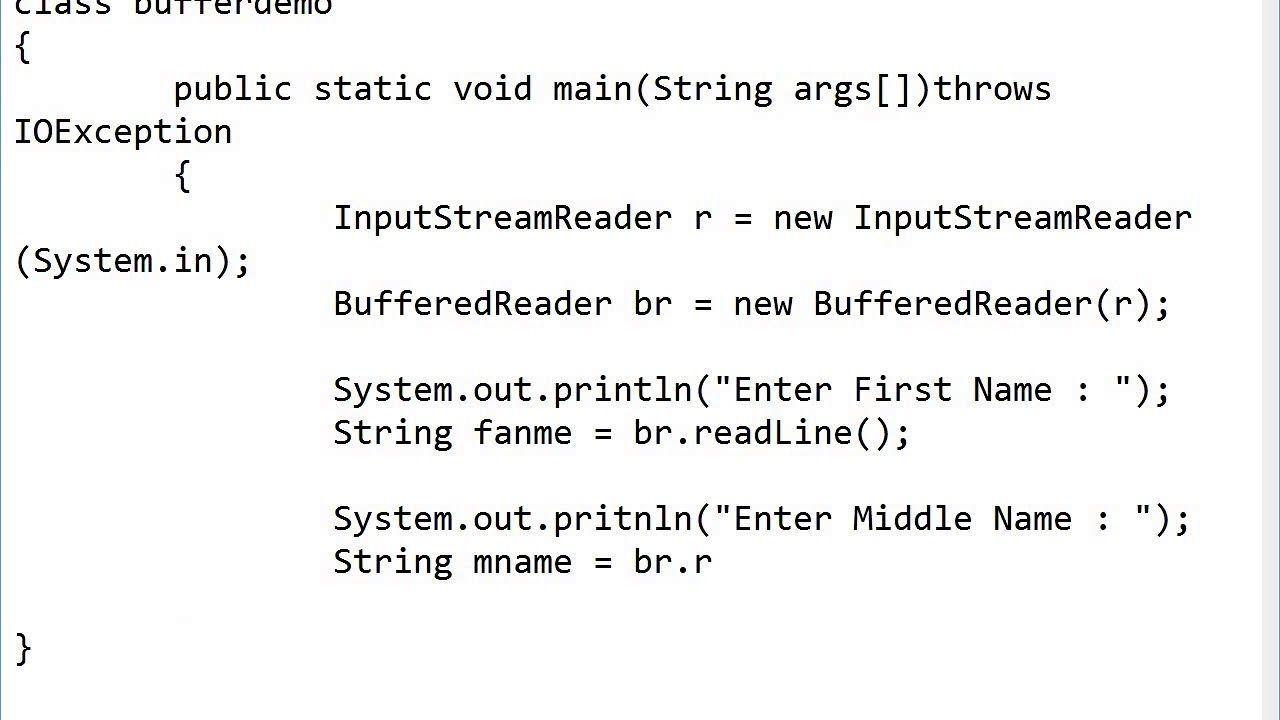 Programming In Java Bufferedreader Class Practice In 2020 Practice Class Names