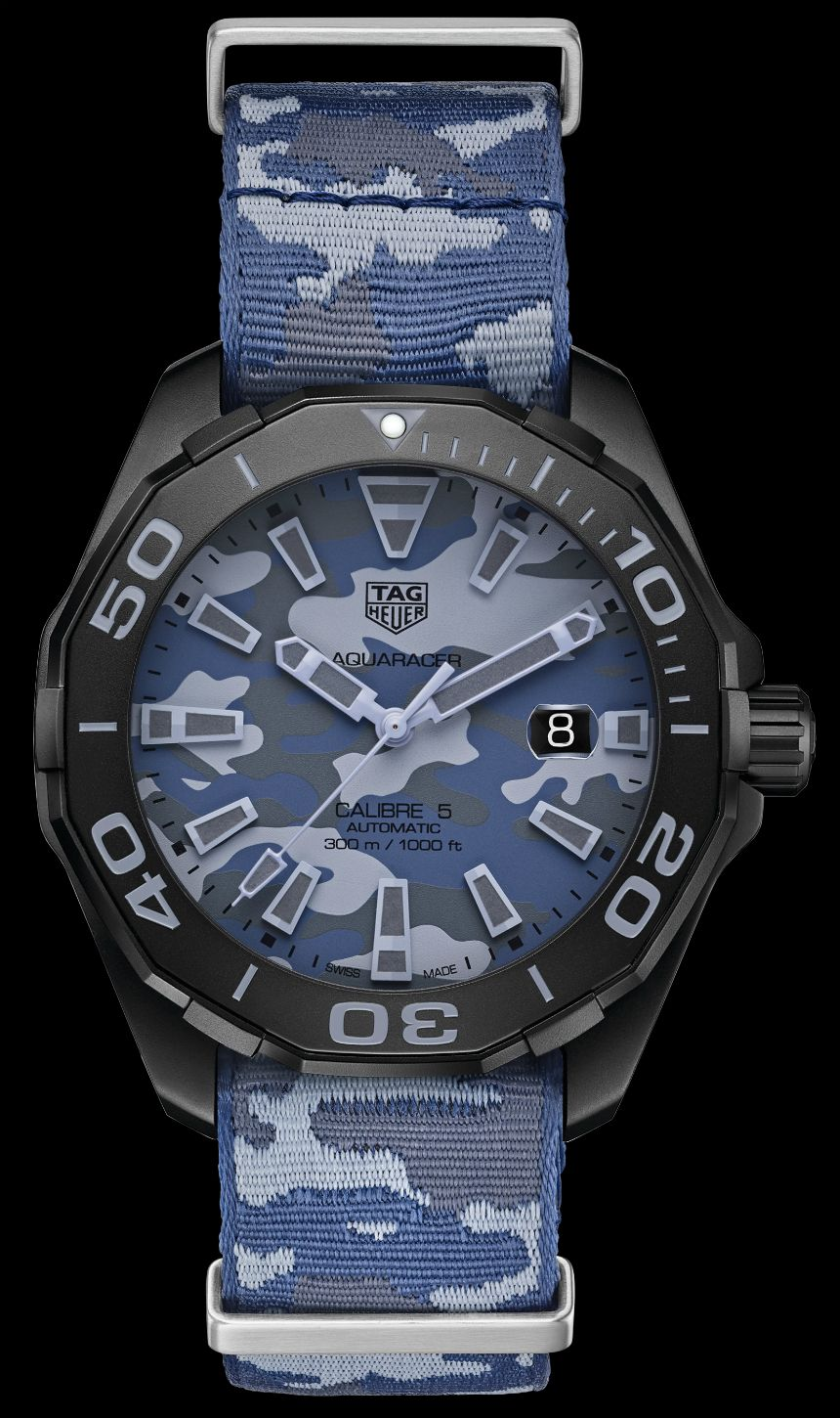 dc01a3e9d179 TAG Heuer Aquaracer 300 Caliber 5 Watches In Khaki   Camo Watch Releases
