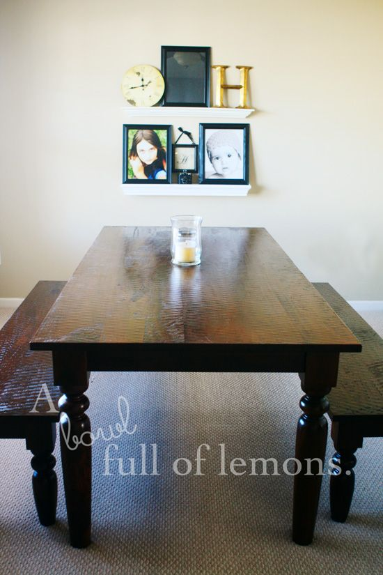 A Bowl Full Of Lemons Table From World Market  Sourav Table And Benches  $500 $900 Without Any Sales Or Coupons