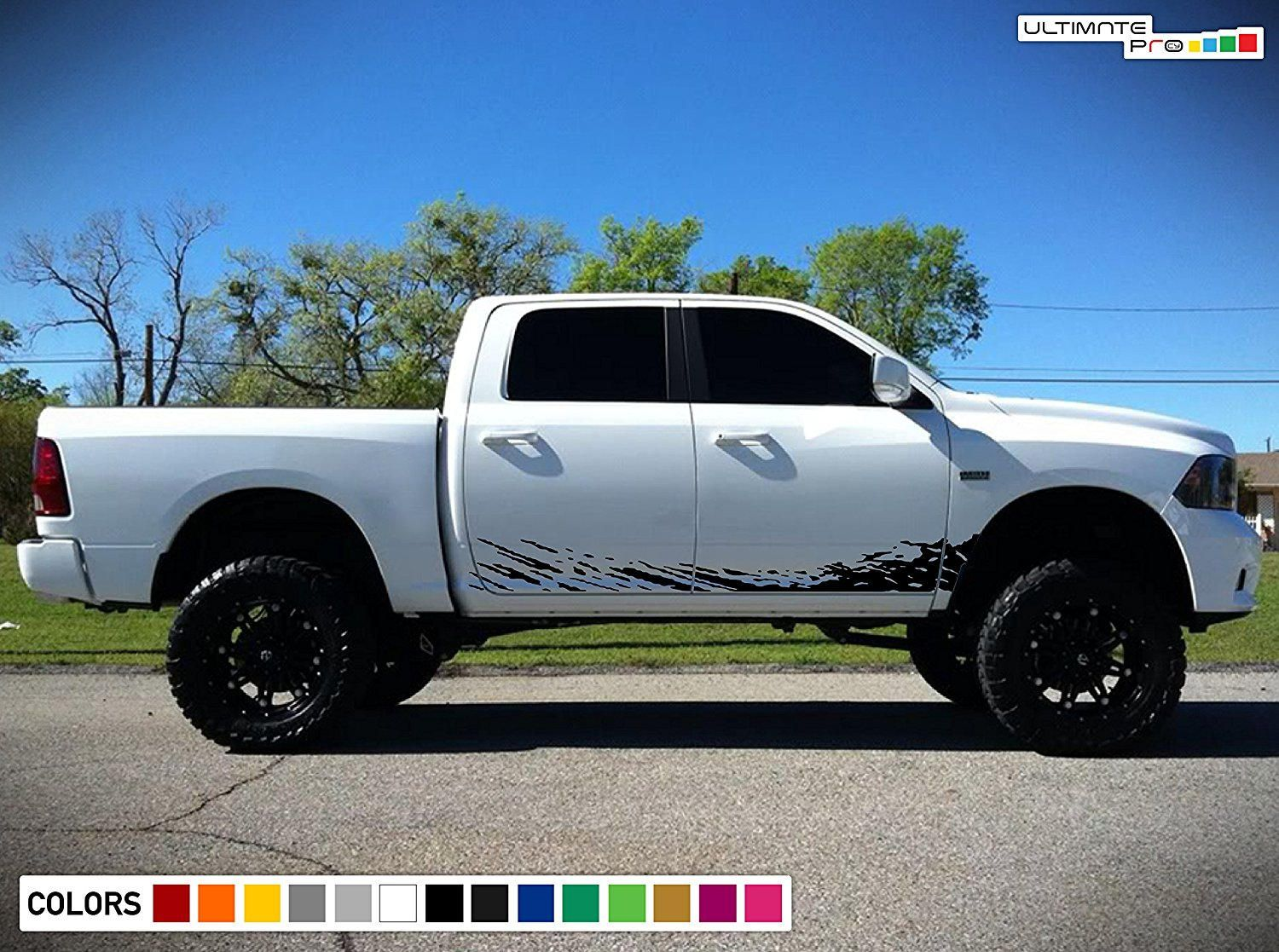 Mud Splash Decal OffRoad Graphic Vinyl Compatible with