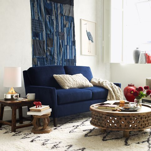 west elm Everett Loveseat (60 ) | West Elm Archives | Blue ...