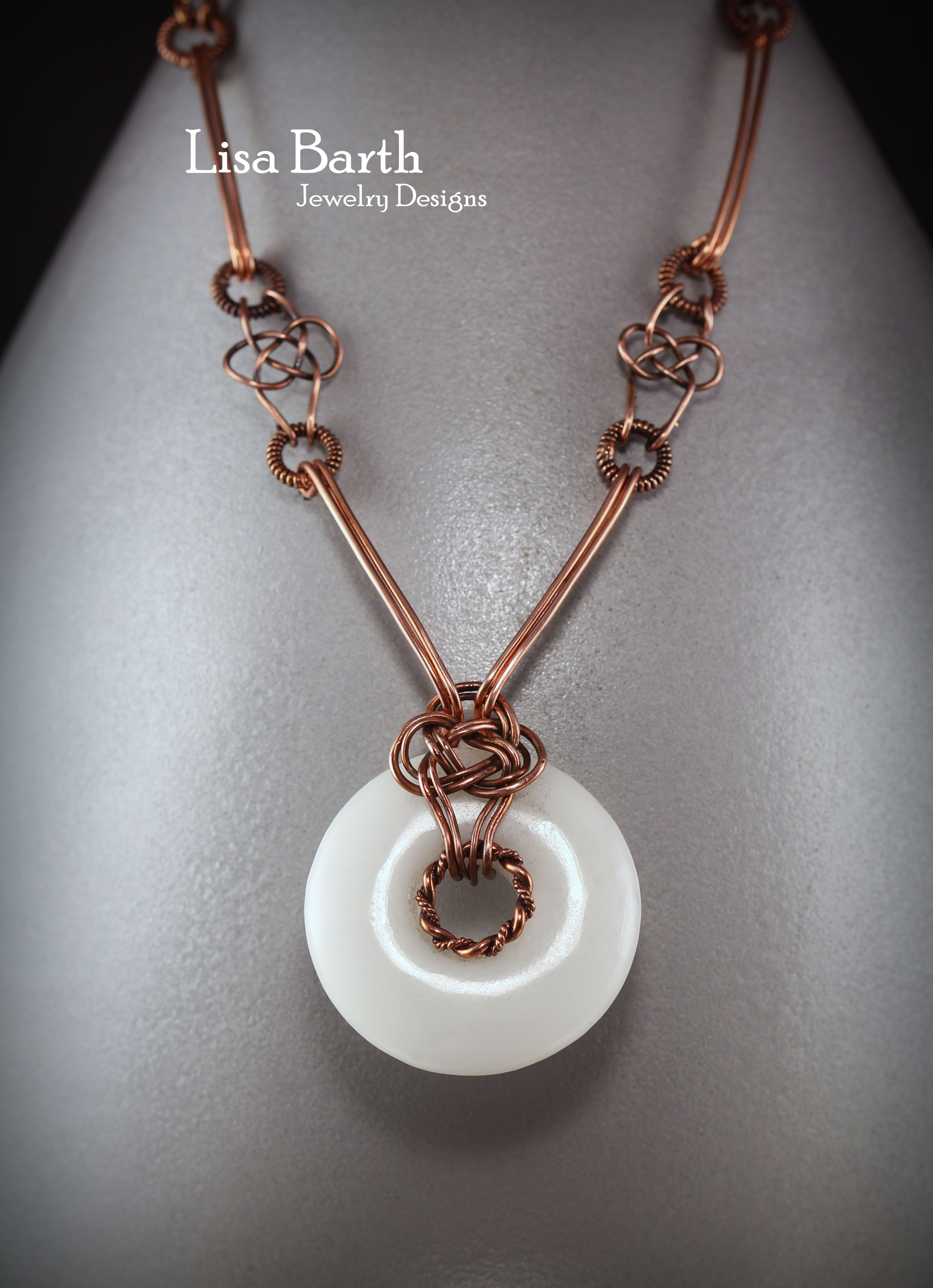 Lisa Barth -Classic Celtic Knot as a bail and link for the necklace ...