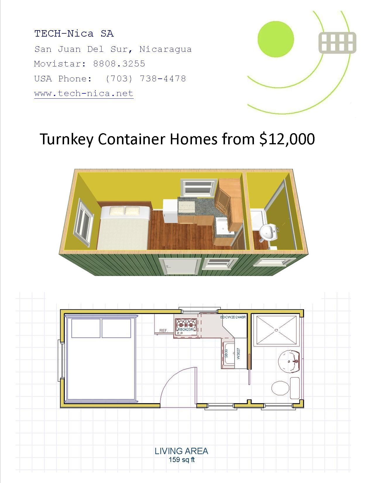 Turnkey Container Homes From 12 000 Container House Container House Plans Container House Design