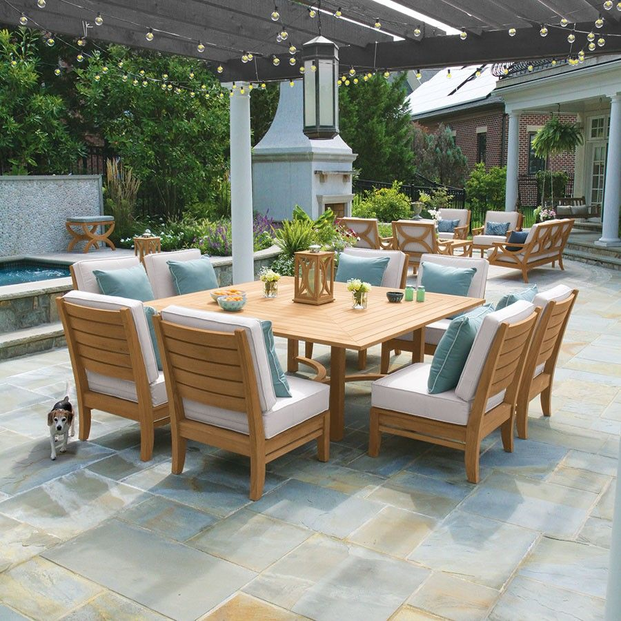 Fit Everyone Around The Table With The 6 Ft Fiori Square Dining