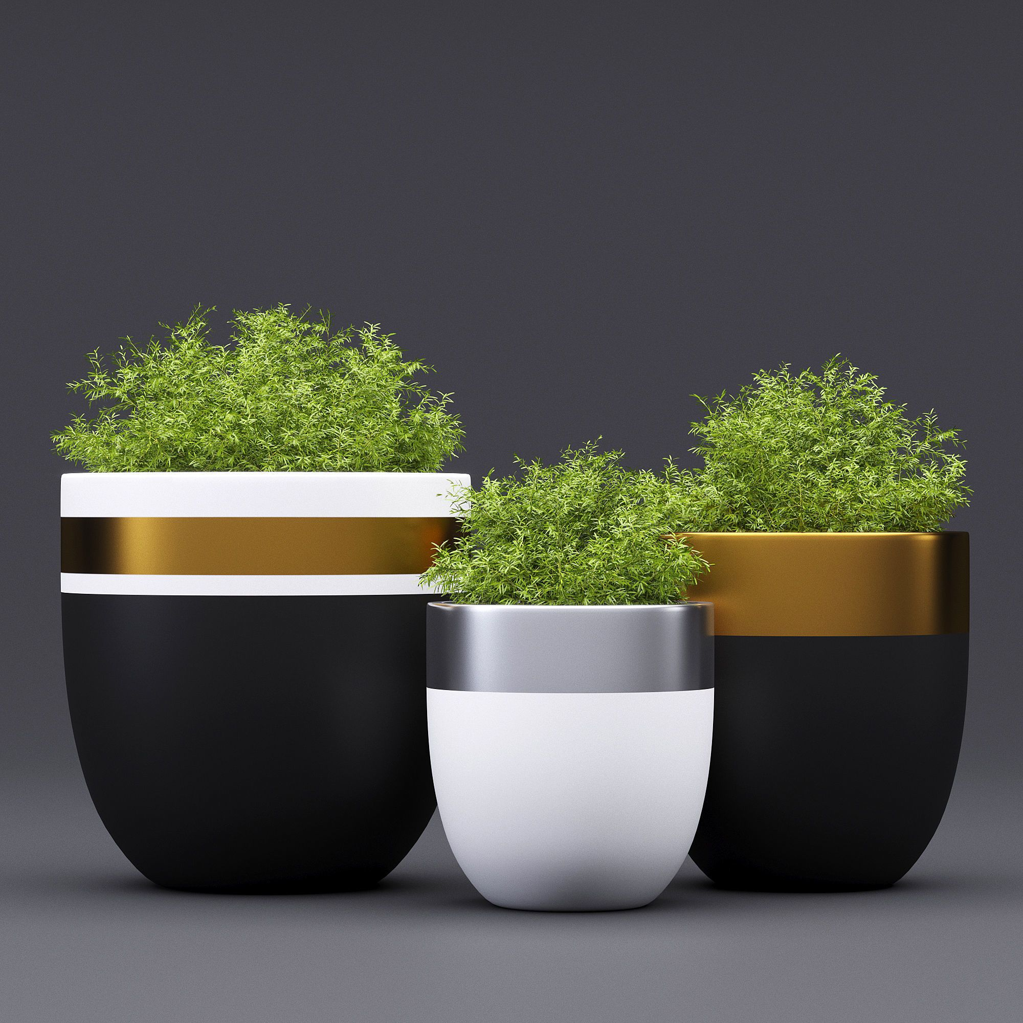 Design Twins Royal 3d Model Vasos De Cimento