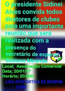 NONATO NOTÍCIAS: LDB CONVIDA TODOS OS DIRETORES  DE CLUBES  PARA UM...