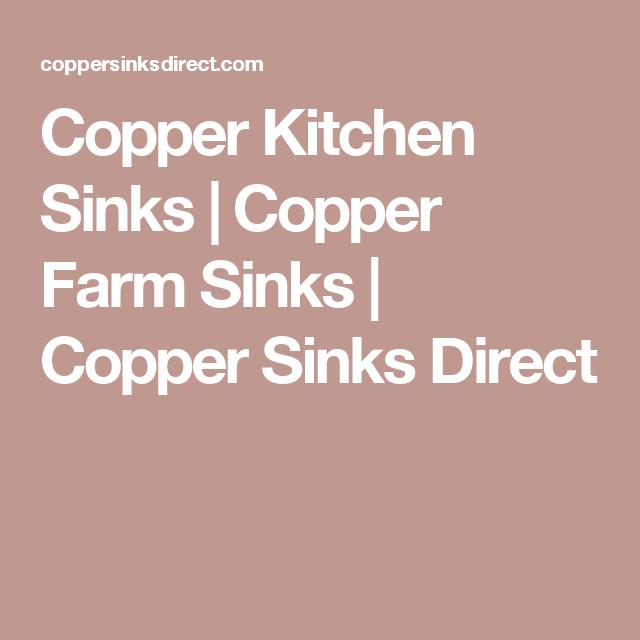 Copper Kitchen Sinks | Copper Farm Sinks | Copper Sinks Direct