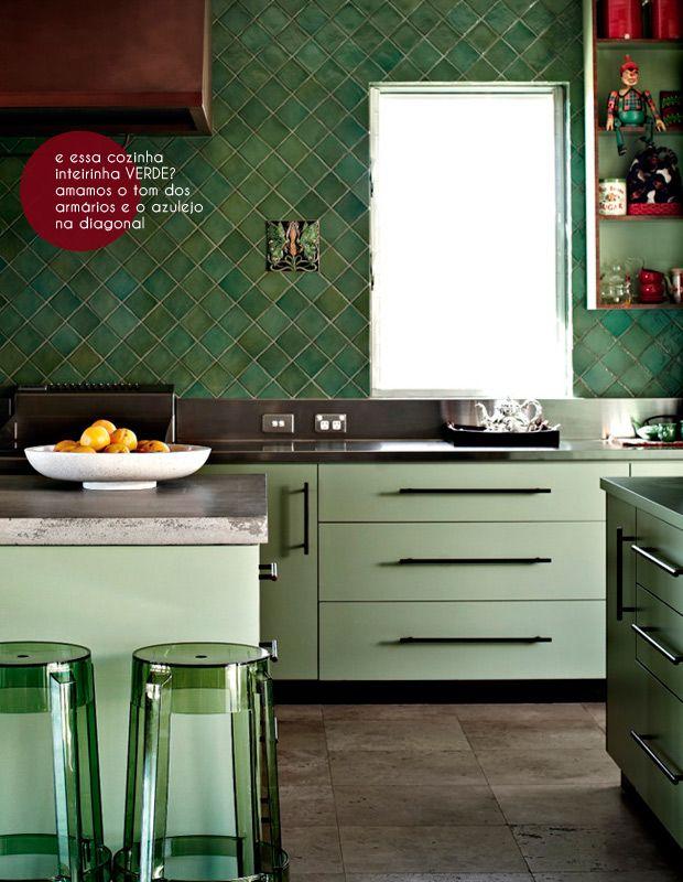 Azulejos na diagonal | Decor | Pinterest